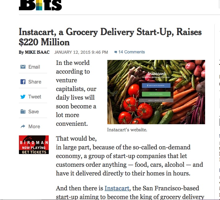 Food delivery business raises $220 million Privately, but Fresh
