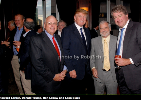 Trump with fellow Billionaire and FreshDirect investor Leon Black. Trump got millions in publiv monies to build a golf course in the Bronx, Leon Black seeks a $145 million deal to pollute the South Bronx with a fleet of diesel trucks on the waterfront.